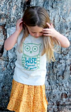Perfect for weekend outings - Be Wise tee and Alli Skirt.