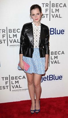 Emma Watson: Look of the Day. With a bit of iBare pink pop clutch! Only $18! Www.ibare.com.au
