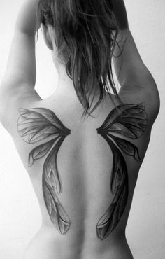 wings tattoo~ love how these look like fairy wings