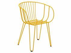 Stackable galvanized steel garden chair OLIVO - iSimar