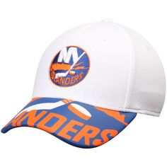sports shoes 8b0e0 e1afb New York Islanders Reebok Face Off Draft Flex Hat - White