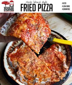 Rhode Island 5-Minute Fried Pizza (Low Carb, Keto)