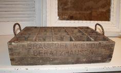 """Alte Bierkiste, Bierkasten, Holz, Vintage shabby von Il Sogno  """"Ein weißer Traum"""" auf DaWanda.com"""