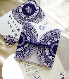 wedding invitation of Chinese style
