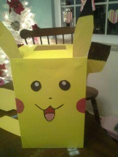 Valentine's Day Pokemon box for school.