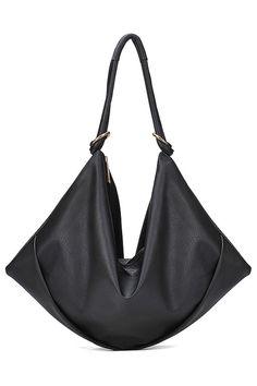 Simply Faux Leather Shoulder Bag - OASAP.com
