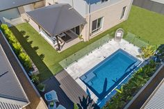 Project - Madeira 6 Slate Grey (Moreton Bay- Sunshine Coast) | Narellan Pools Small Pool Design, Project List, Pool Builders, Sunshine Coast, Pool Designs, Online Gallery, Slate, Swimming Pools, Garden Ideas