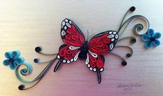 Quilling - Monarch butterfly by Canan Ersöz.