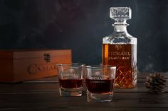 6 Sets Personalized Whiskey Decante Glasses Custom Groomsmen Gifts Personalized Groom Gift