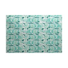 Beach Vacation Teal Indoor/Outdoor Area Rug | Wayfair