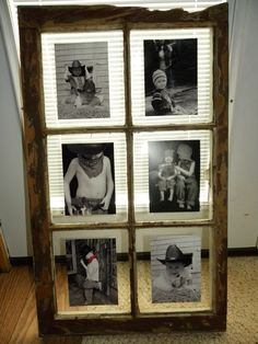 Another recycled old window! Picture frame idea. Really great way to make a gallery frame, very inexpensively.