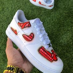 Air Force One Shoes, Air Force 1, Nike Air Force, Nike Kids Shoes, Cute Nike Shoes, Cute Shoes Heels, Swag Shoes, 49er Shoes, Painted Sneakers