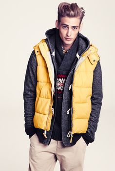 Puffy yellow vest. H&M Fall/Winter Collection 2011.