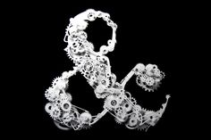 Ampersand Gearhead: The ultimate ampersand. Just one piece of the many impressive works of Laura Berglund.