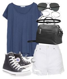 """""""Untitled #18998"""" by florencia95 ❤ liked on Polyvore featuring Zara, Topshop, Converse, Ray-Ban, Linea Pelle, Cartier and Michael Kors"""