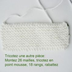 Tricoter les chaussons de bébé? Ici, un modèle... - Monde tricot Crochet Motif, Knit Crochet, Crochet Hats, Knitted Booties, Knitted Hats, Tricot Baby, Shoes Photo, Knitting Videos, Photo Tutorial