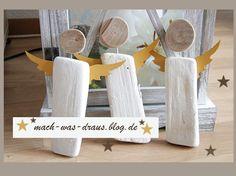 die Engel sind fertig...Holzdeko für Weihnachten - Www.mach-was-draus.blog.de
