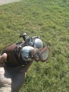 Homemade goggles for a steampunk costume