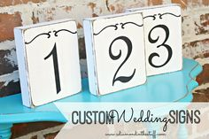 Custom Wedding Signs {Tutorial included}