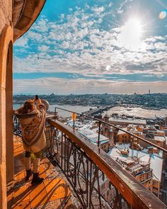 One of the best views of Istanbul is from the top of the Galata Tower! We are super-happy that snowy days are ahead, for white suits #İstanbul so much! ⠀ ⠀ :senertekci/IG⠀