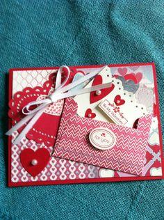 Opened Valentine envelope card