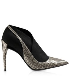A'dioring' this #shoeoftheday! PUMP - Grey python elasticated shoe boot, 10 cm