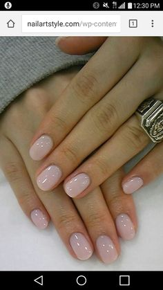 Short round acrylic nails