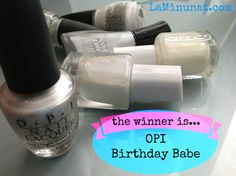 OPI Birthday Babe is the best of the white, pearl, glitter, soft nail polishes out there!  Best for understated looks!  Just think of lustrous pearls <3 LaMinunat.com