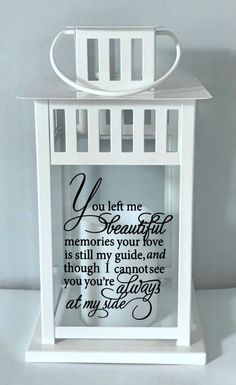Beautiful Memories Memorial Lantern Remembrance Loss of
