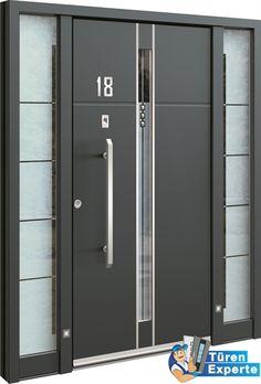 Moderne Haustüre AEE 1108 mit Swarovski Kristallen, Edelstahl und Glas jetzt auf http://www.tueren-experte.de konfigurieren.
