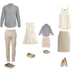 What to wear for your family photo session. This shows a great example of how to combine your color choices without being overly matched. A fashion look from February 2014 featuring white shirt, pencil skirts and pink pants. Browse and shop related looks. Family Photos What To Wear, Summer Family Photos, Family Pictures, Fall Family, Family Portrait Outfits, Family Picture Outfits, Family Portraits, Beach Portraits, Family Posing