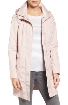 Cole Haan Signature Back Bow Packable Hooded Raincoat available at #Nordstrom