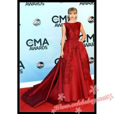 Taylor Swift red lace prom dress CMA Awards 2013 $199.99 each at Celebsbuy.net