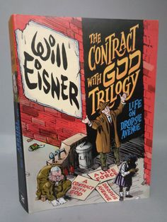 Will Eisner,The Contract With God Trilogy, Life on Dropsie Avenue,First Printing,Hardcover,Graphic Novel Collection,Sepia Ink