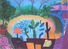 David Hockney | My Garden in L.A. | 2000