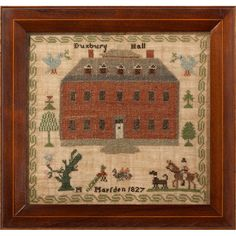 - 1827 Sampler: Duxbury Hall, England 2 of 3 Embroidery Sampler, Cross Stitch Embroidery, Cross Stitch Patterns, Hand Embroidery, Cross Stitch Samplers, Cross Stitching, Sewing Notions, Embroidery Techniques, Folk Art
