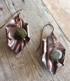 A personal favorite from my Etsy shop https://www.etsy.com/listing/285861747/copper-earrings-dangle-earrings-ooak