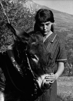 "Anne Wiazemsky in ""Au hasard Balthazar"" (1966) directed by Robert Bresson."