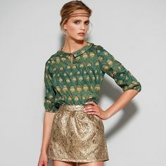 Etsy の Pixie's Peacock blouse Preorder by Nadinoo
