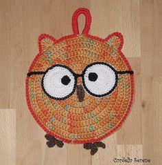 Ravelry: CordeliaSerene's Owl Potholder - inspiration