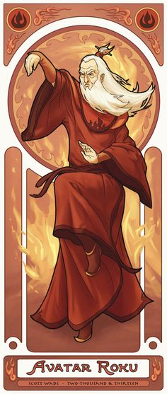 'Avatars' Of 'The Last Airbender' Reimagined In Art Nouveau Style - DesignTAXI.com