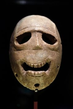 World's oldest masks displayed in Israel - The eleven masks on display all differ slightly. Believed to be from the Neolithic period, the masks out date any known religion or ritual practice.