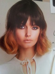 Dip dyed bob with soft layers!! :-)