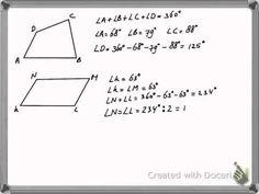 Hoeken berekenen vierhoek - YouTube