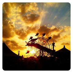 """Sunset at the Ohio State Fair"" - One of the winning photos in the #Ohiomemory @Ohiogram instagram photo contest. ""Now I'm all grown up, but I still get to the fair early, see as much as I possibly can, eat a little too much fair food, and never leave before sunset."" ~ @wittaero"