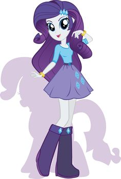 Hi. I'm Rarity. I love fashion and making clothes and designs! I have a sister named Sweetie Belle.