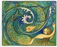 american folk art mermaids - Google Search
