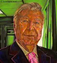 Mr. José Luis García Palacios . Portrait Painting . Detail II .  Acrylic on Board . 120cm x 92cm .
