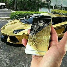 Gold iPhone & Aventador 😎😎😎 http://bit.ly/2cqoenh