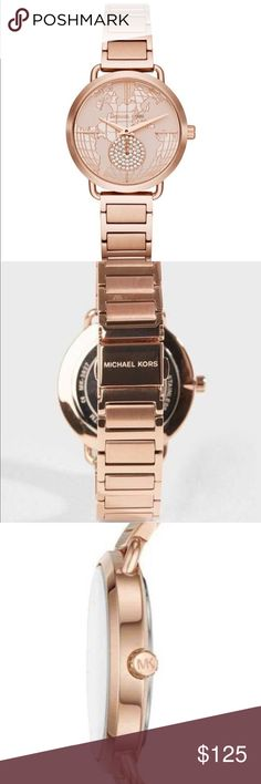 71118ef4a54d Michael Kors 😎Portia Rose Gold Tone Watch!👍👍 Incredibly Gorgeous Ladies  Portia Rose